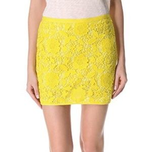 Madewell Violette yellow lace skirt (0)